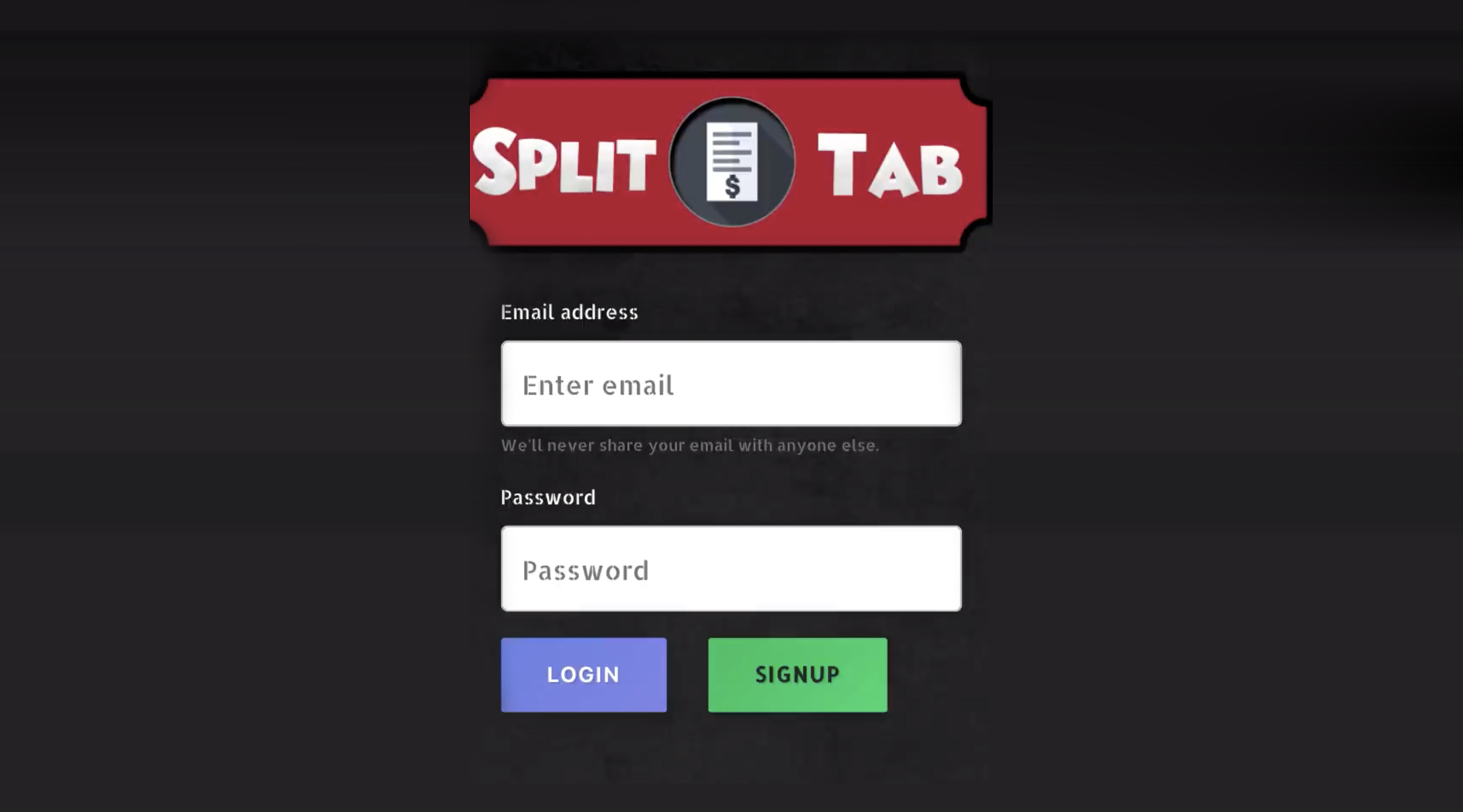 Split Tab application